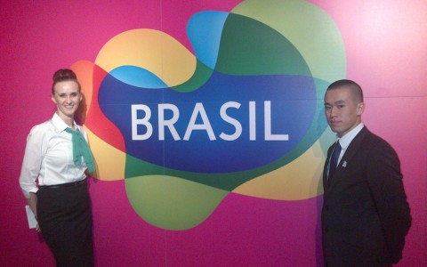 Head booker Lisa and host Danny – abetura de Casa Brasil