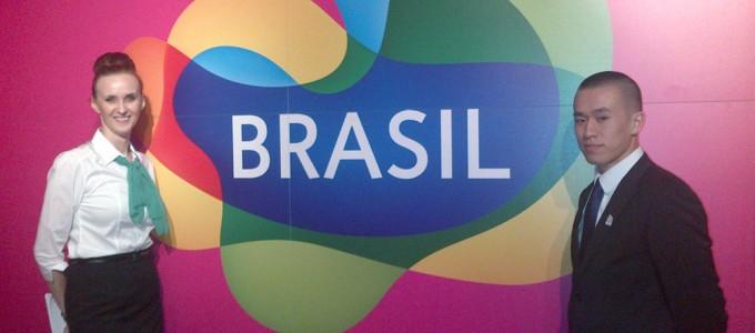 Head booker Lisa and host Danny – abetura de Casa Brasil